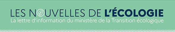 Bandeau pour illustrer Les nouvelles de l'écologie, la lettre d'information du ministère de la Transition écologique