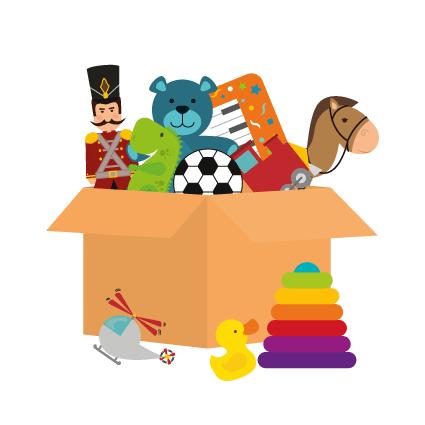 Visuel pour illustrer les 55 tonnes de jouets récoltés par l'association Rejoué.