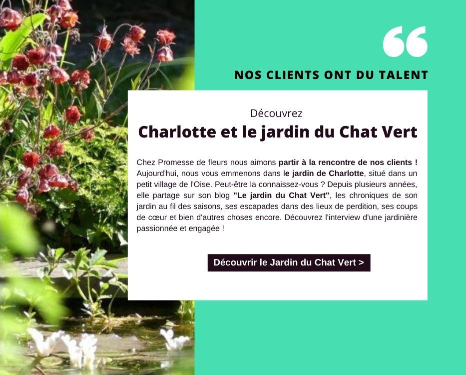 Nos clients ont du talent, Charlotte et le jardin du Chat Vert