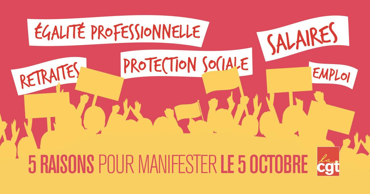Le 5 octobre, tous unis pour nos droits