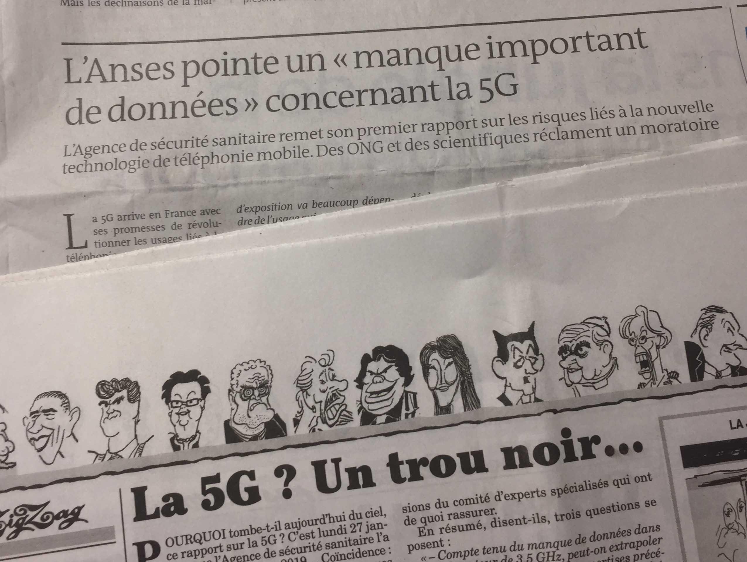 """Le Monde et Le Canard enchaîné parlent de notre pétition """"STOP A LA 5G"""""""