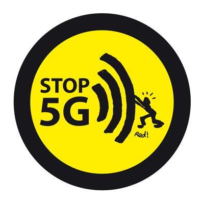 """L'autocollant """"Stop 5G"""""""
