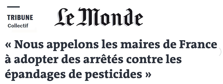 Dernière minute : Parution d'une tribune inter-associative dans le journal Le Monde