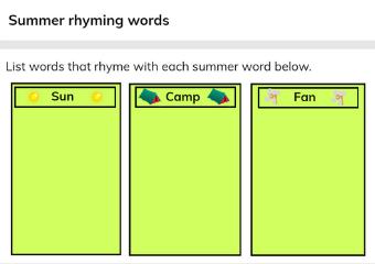Summer Lesson - Gynzy