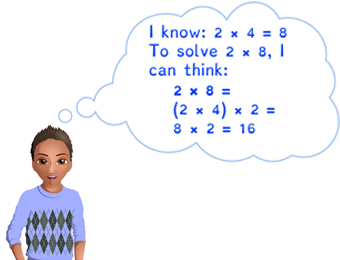 Using x4 facts to solve x8 facts