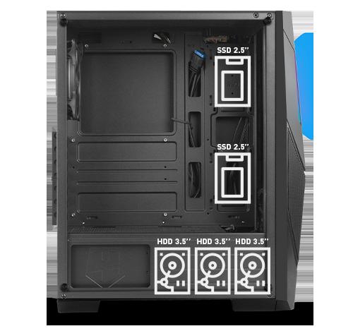 Nox amplía la familia Infinity con una nueva caja: Nox Infinity Delta, una semitorre con ARGB