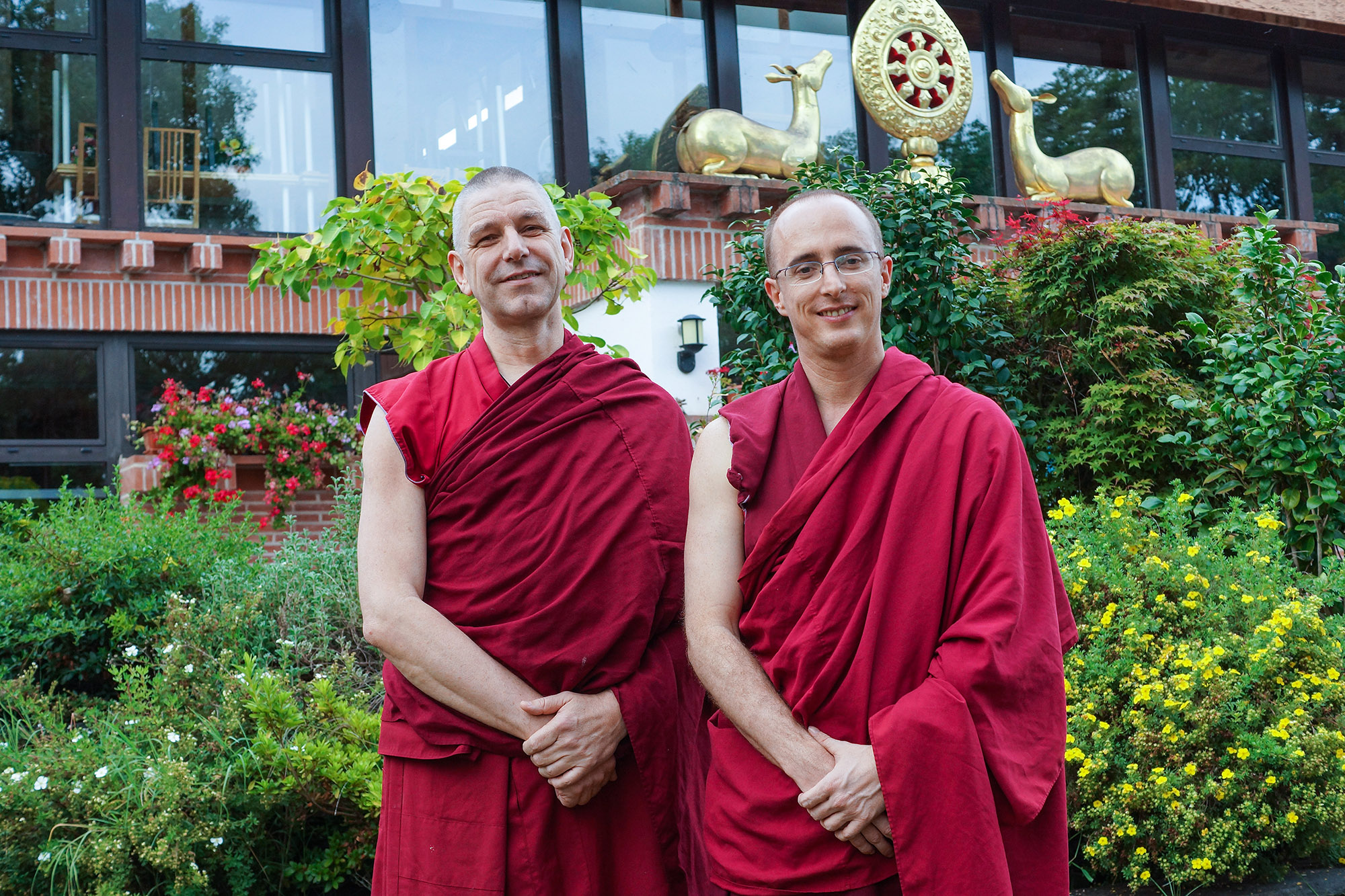 New director and old director of Nalanda