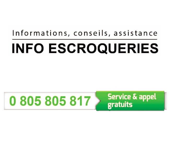 service INFO ESCROQUERIES du ministère de l'Intérieur