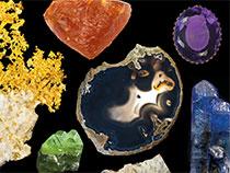 Extrait de la couverture - Guide Galerie de Minéralogie et de Géologie © MNHN