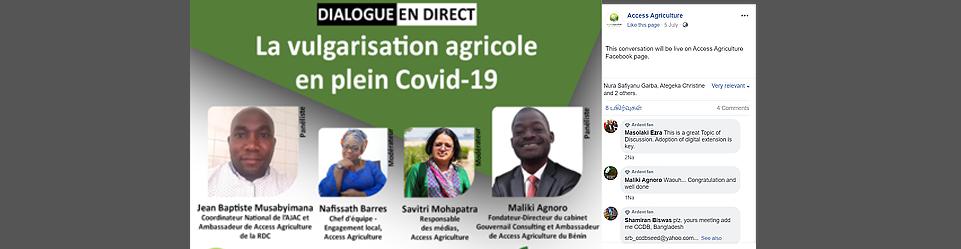 La vulgarisation agricole en plein Covid-19