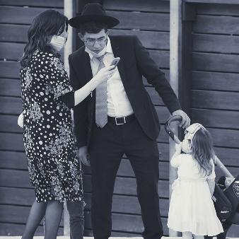 istock Photo: Jewish family in Jerusalem during coronavirus-19. Jewish family with children in Jerusalem.