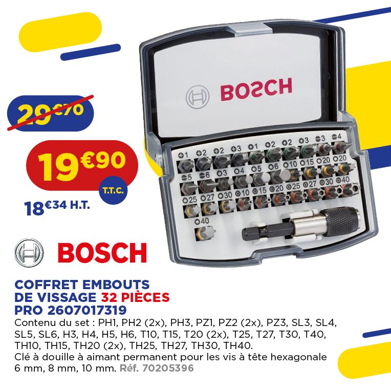 BOSCH - COFFRET EMBOUTS DE VISSAGE 32 PIÈCES PRO 2607017319